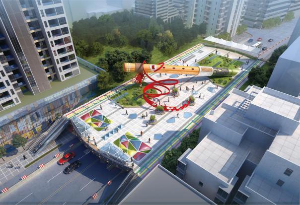 玉屏县火车站人行天桥建设项目桥梁工程 贵州中恒远大工程设计有限公司